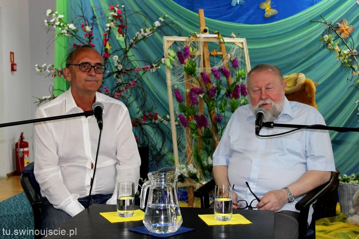 Spotkanie z prof. Jerzym Bralczykiem oraz red. Michałem Ogórkiem.