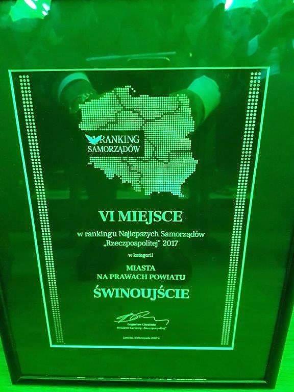 Świnoujście zajęło 6. miejsce w Rankingu Najlepsze Samorządy