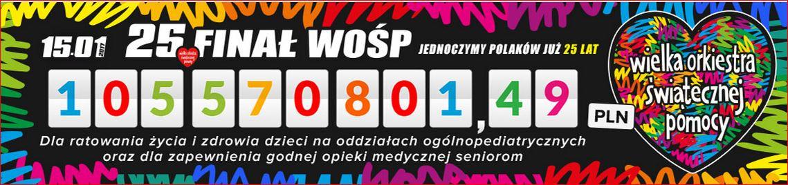 Wielka Orkiestra Świątecznej Pomocy 105 570 801,49 zł.
