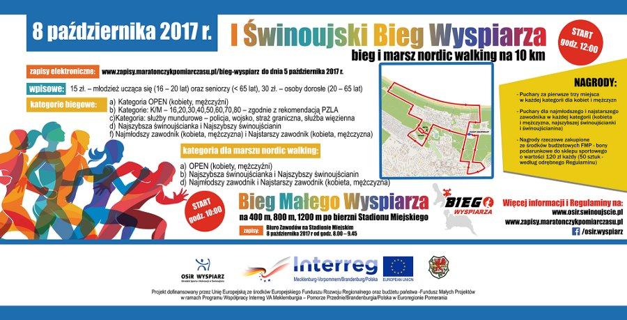 Impreza biegowa i marsz nordic walking na 10 km