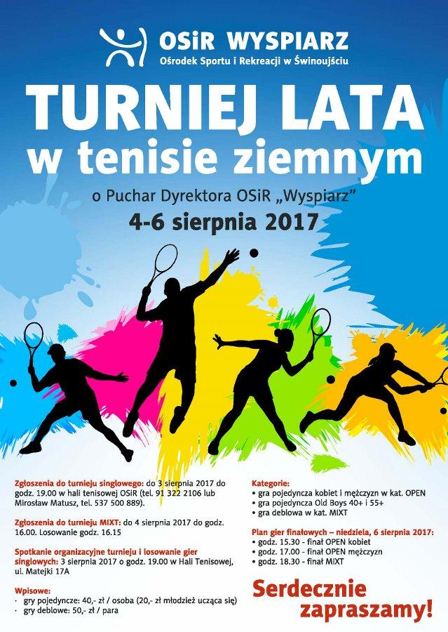 """Turniej Lata Tenisa Ziemnego o Puchar Dyrektora OSiR """"Wyspiarz"""""""