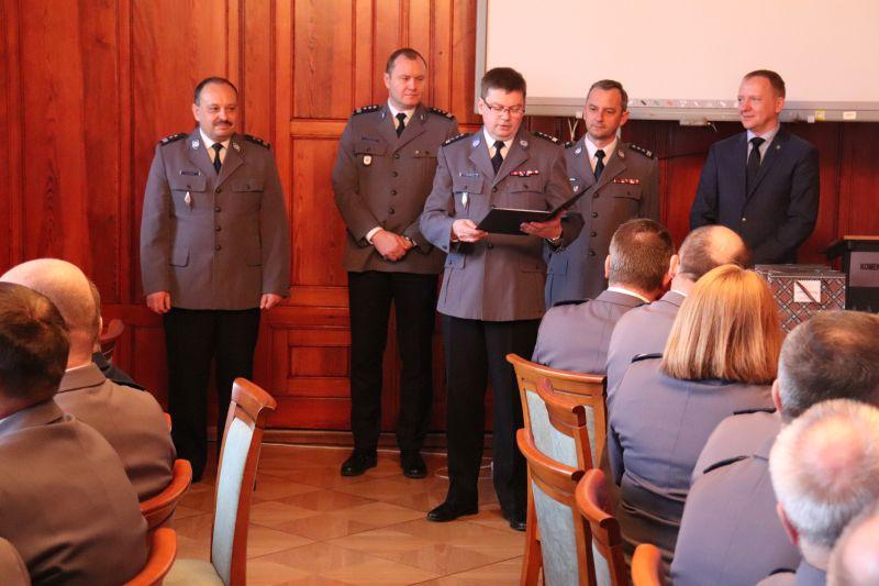 Pożegnanie z mundurem naczelnika prewencji KWP w Szczecinie