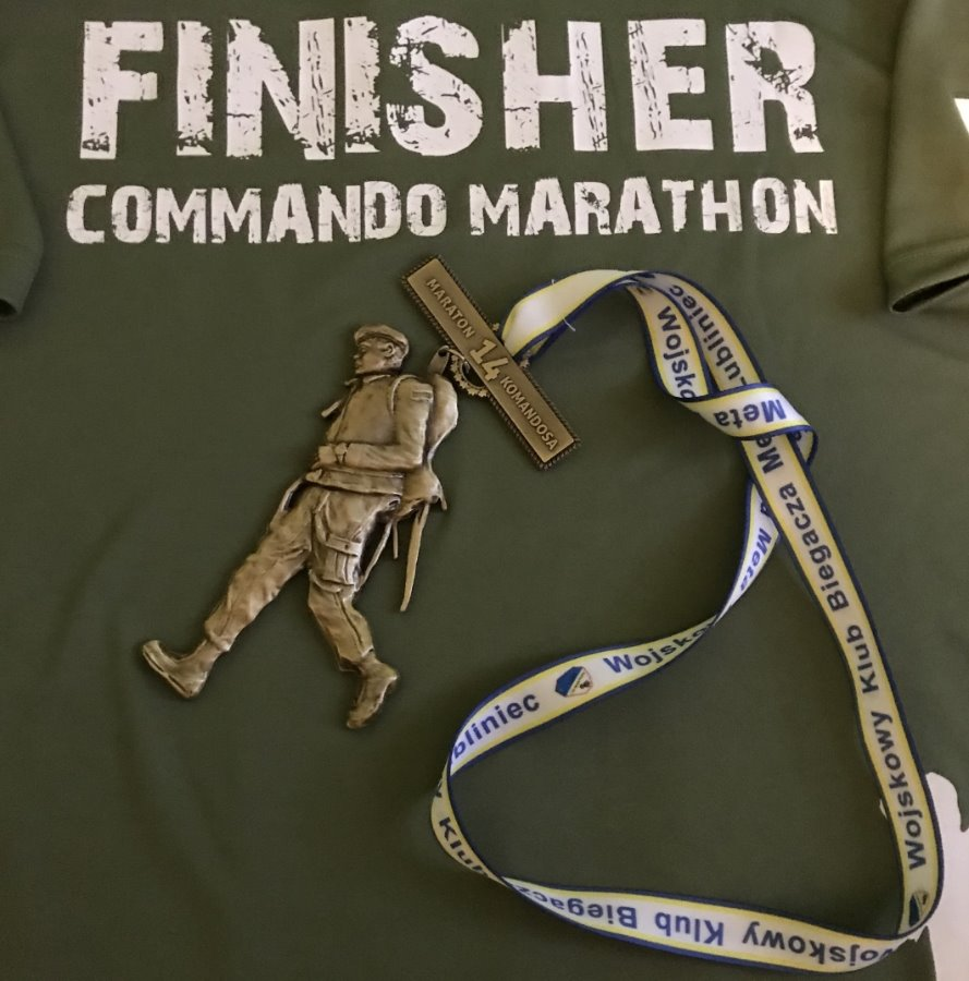 Trzeci w Maratonie Komandosa