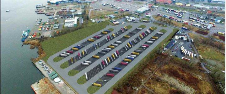 Terminal promowy w Świnoujściu będzie miał nowy parking dla ciężarówek