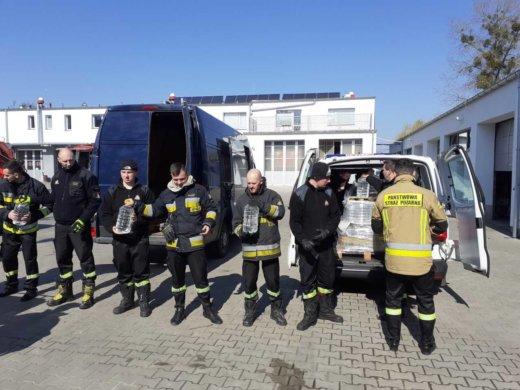 1731 litrów alkoholu do dezynfekcji dla Straży Pożarnej w Szczecinie.