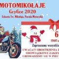 Parada motocyklowa MotoMikołaje Gryfice 2020