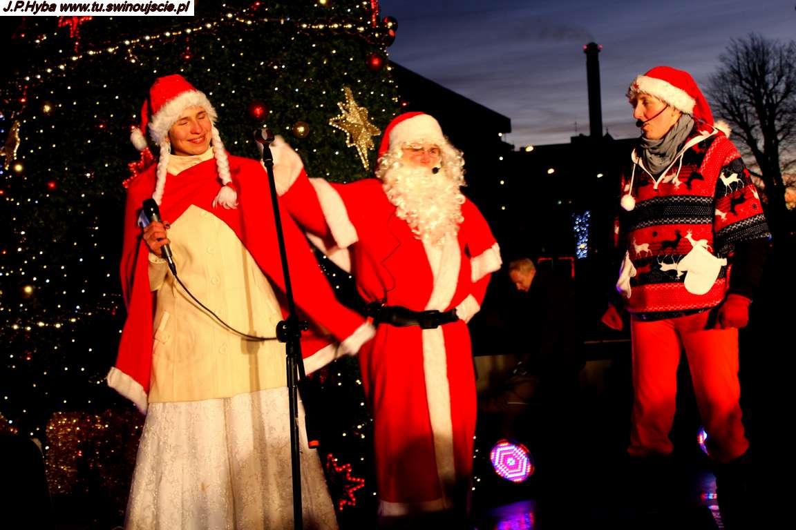 Radosny Mikołaj na Placu Wolności