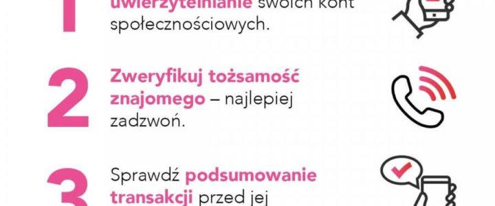 """OSTRZEGAMY PRZED OSZUSTWAMI METODĄ NA """"BLIK-A""""!"""