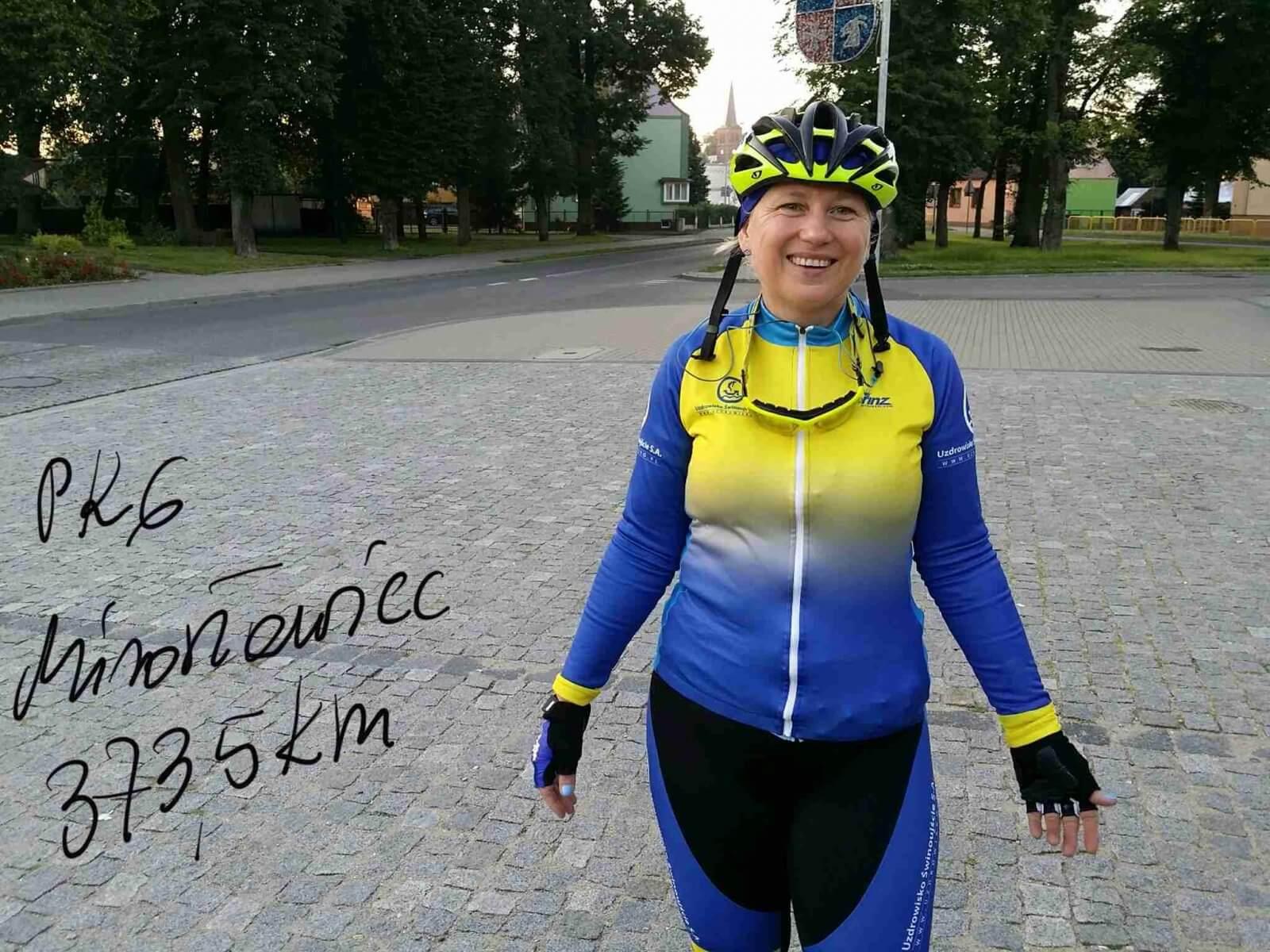 711,5 km na rowerze, tyle przejechała Jana Gryta