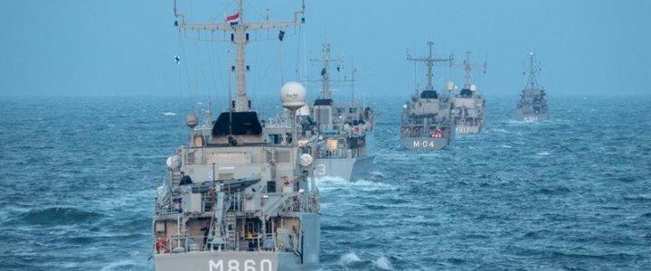 Okręty NATO w Szczecinie.
