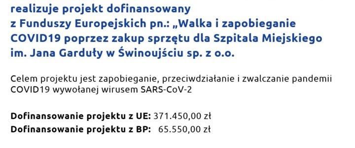 Świnoujście. Ważny projekt. Nasz szpital zyska sprzęt za ponad 430 tysięcy złotych.