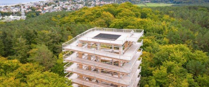 Świnoujście. Ścieżka w koronach drzew – nowa atrakcja przyrodnicza w Heringsdorfie.