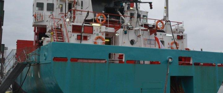 Nielegalne papierosy na statku płynącym do SzczecinaNielegalne papierosy na statku płynącym do Szczecina.