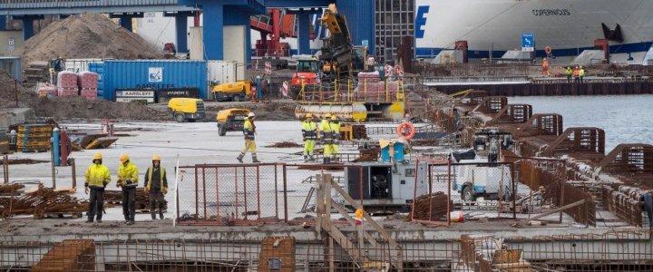 Terminal promowy w Świnoujściu – marcowy raport z budowy.