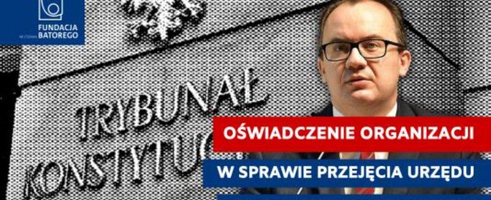 Oświadczenie organizacji społecznych w sprawie przejęcia urzędu Rzecznika Praw Obywatelskich przez większość sejmową.