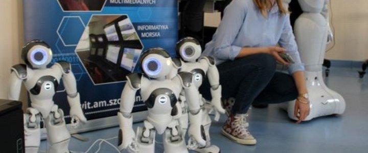 """Akademia Morska w Szczecinie. Sztuczna inteligencja i widzenie maszynowe – roboty """"przejęły"""" nasze nowe laboratorium."""