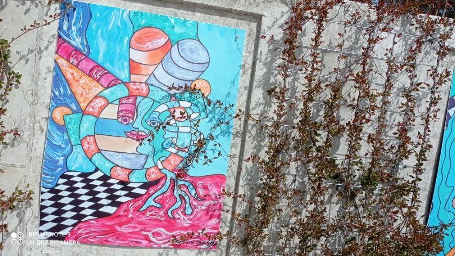 Świnoujście. Prace plastyczne. Autorem prac młody artysta Rafael Barczak.