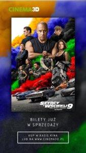 """Świnoujście. Już dziś w Cinema3D kupisz bilety na """"Szybkich i wściekłych 9"""""""