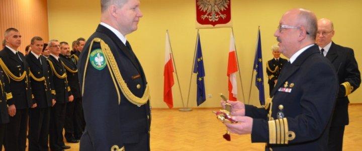 Kapelmistrz Orkiestry Morskiego Oddziału Straży Granicznej pożegnał się ze służbą w Straży Granicznej.