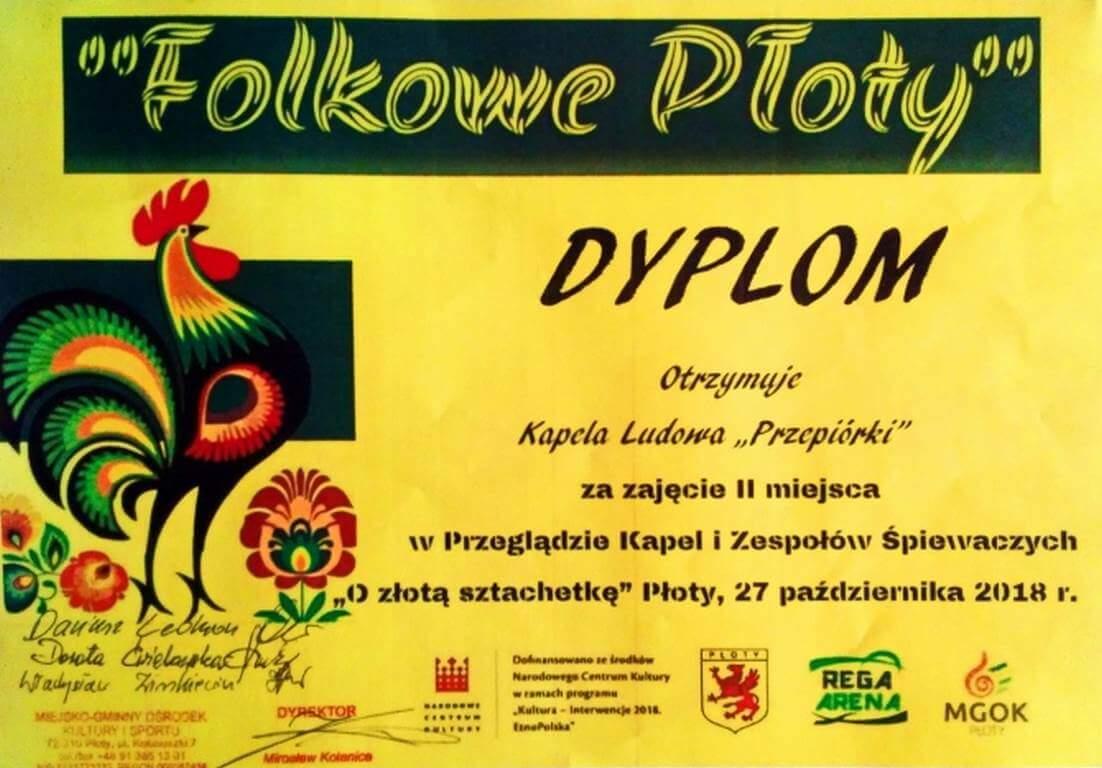 """Sukces gryfickiej kapeli ludowej """"Przepióreczki"""" w Płotach"""