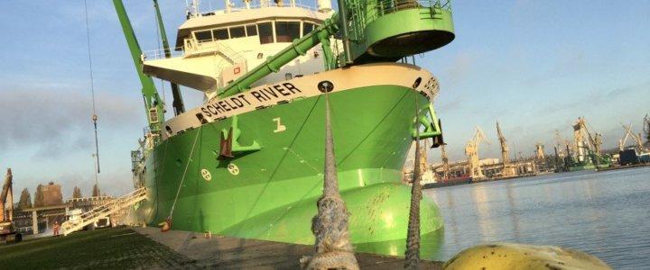 Pierwsza jednostka, która została zatankowana paliwem LNG w porcie Szczecin - Świnoujście.