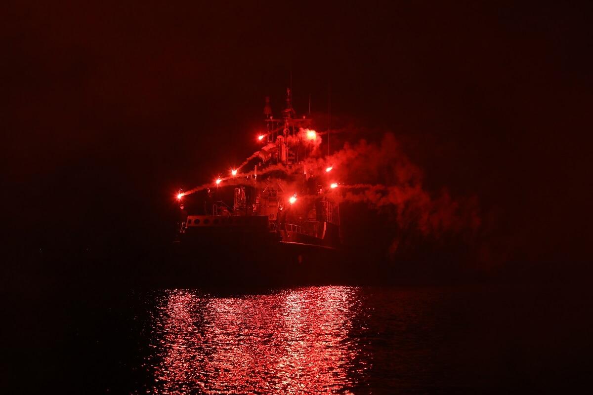 Świnoujście.100. Rocznica Odzyskania Niepodległości na okrętach stacjonujących w Porcie Wojennym