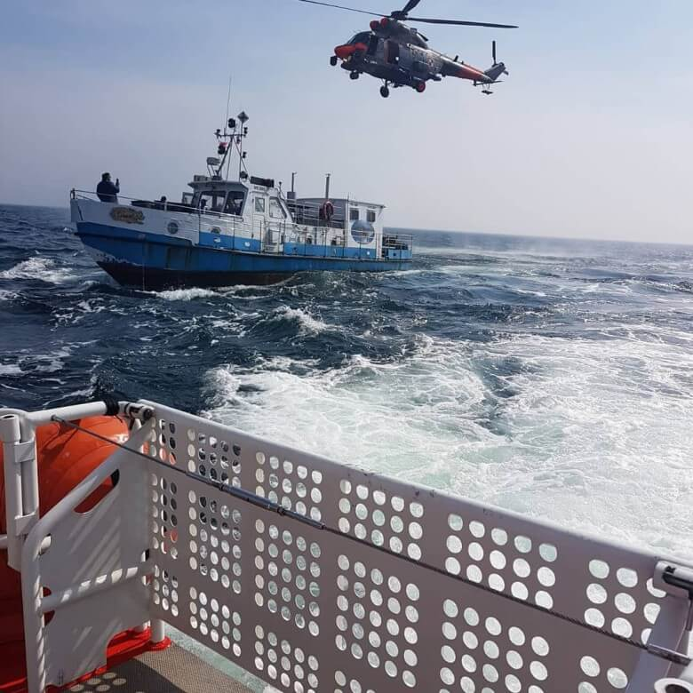 Poszukiwania kutra na Bałtyku. Odnaleziono ciało jednej osoby z zaginionego kutra.