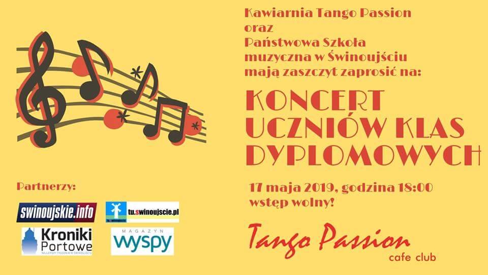 Świnoujście. Koncert w Kawiarni Tango Passion Cafe Club uczniów klas dyplomowych