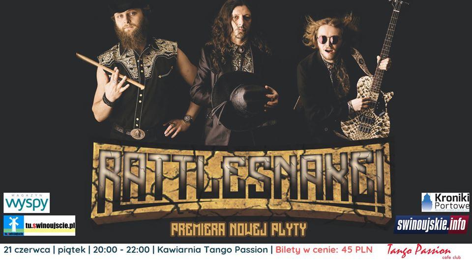 Świnoujście. Rattlesnake! – koncert – premiera nowej płyty w Kawiarni Tango Passion Cafe Club