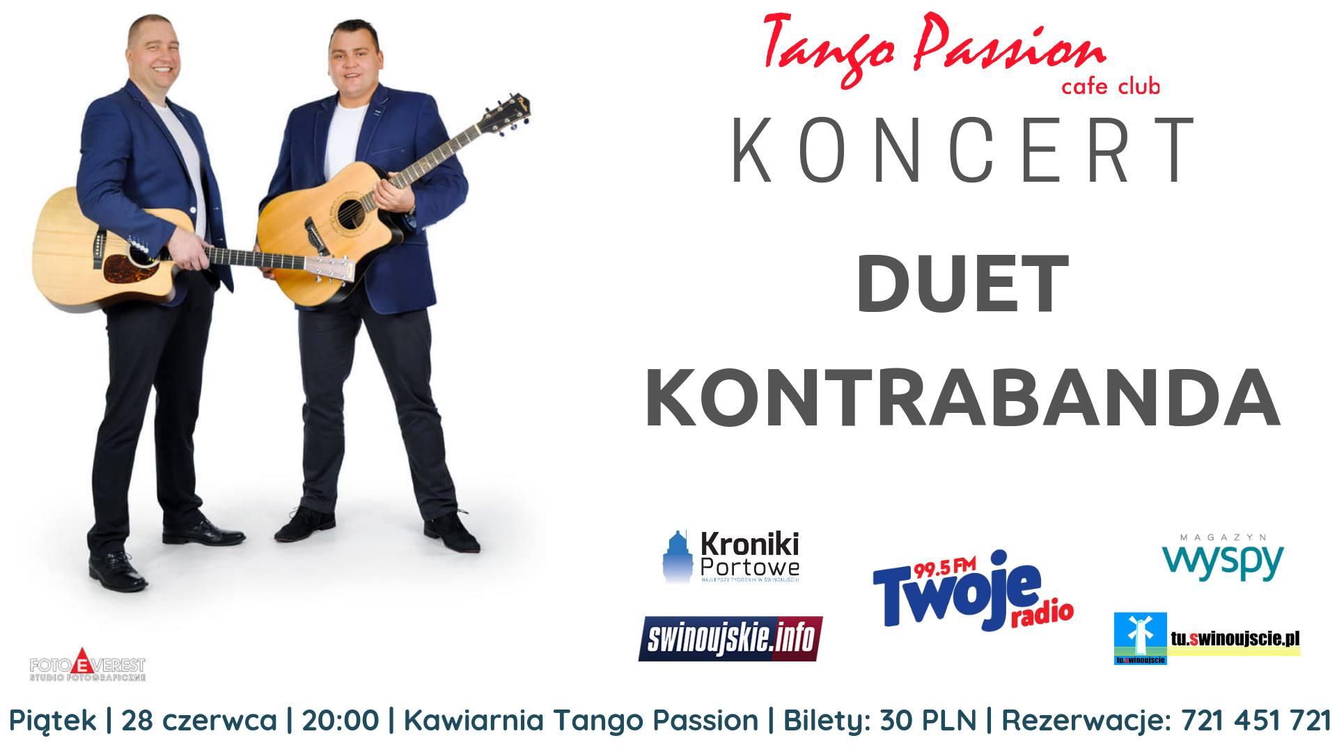 Świnoujście. Duet Kontrabanda – koncert w Kawiarni Tango Passion Cafe Club