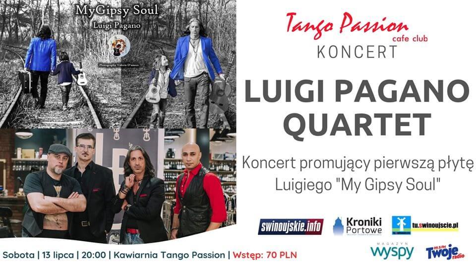 Świnoujście. Luigi Pagano – koncert – promocja nowej płyty w Kawiarni Tango Passion Cafe Club