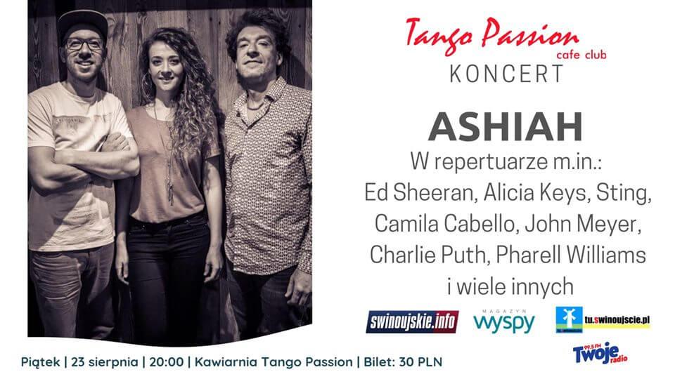 Świnoujście. Ashiah – letni koncert hitów w Kawiarni Tango Passion Cafe Club