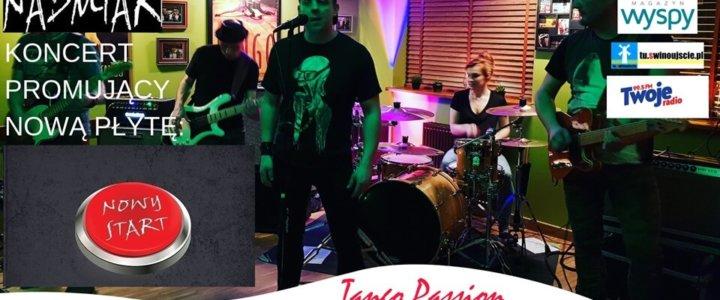 Świnoujście. Nadmiar - koncert z nową płytą: Nowy Start w Kawiarni Tango Passion Cafe Club