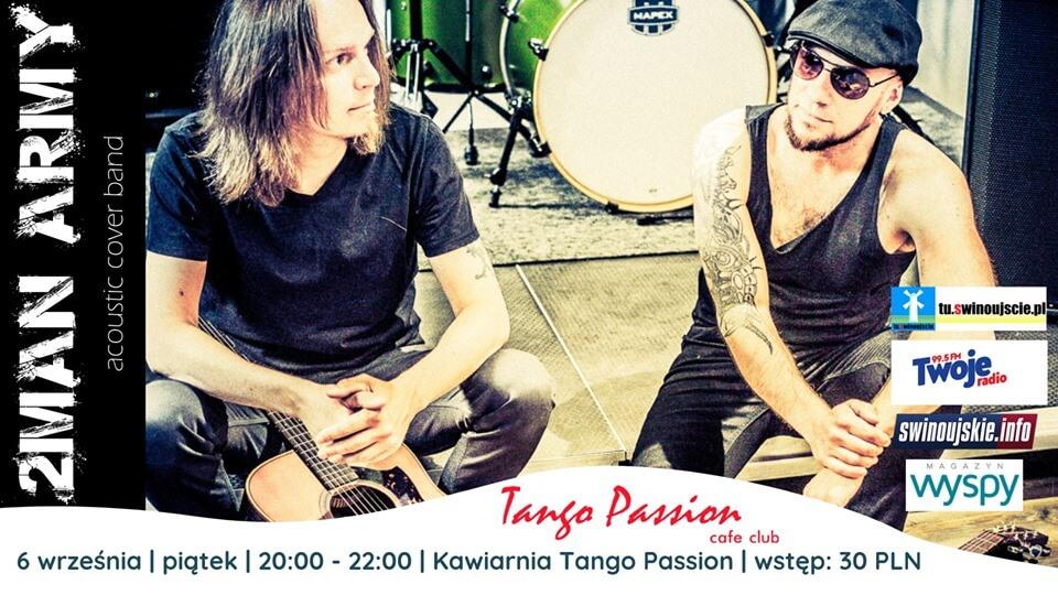 Świnoujście. Koncert 2Man Army – Acoustic Cower Band w  Kawiarni Tango Passion Cafe Club