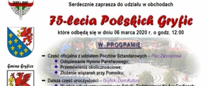 Obchody 75-lecia Polskich Gryfic.