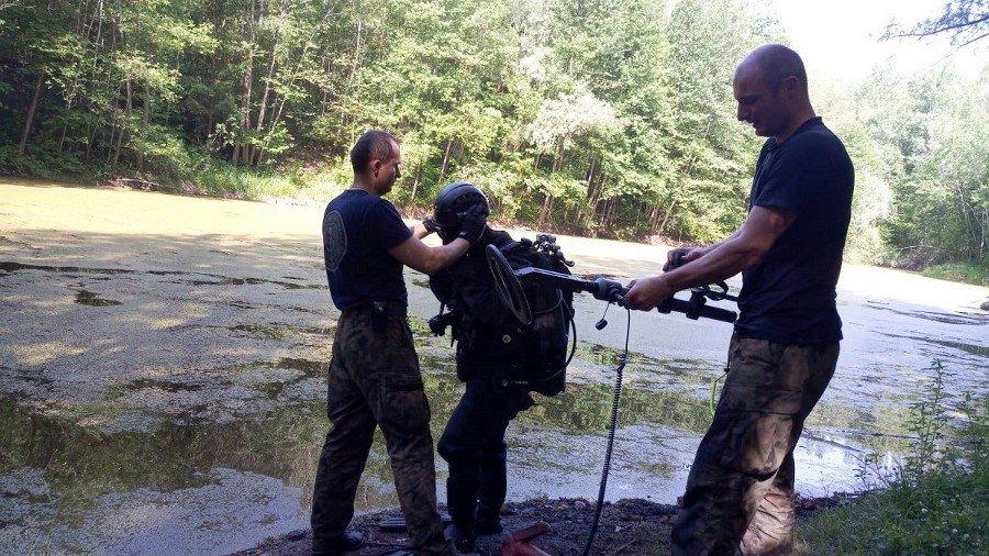 Akcja nurków z 12. Dywizjonu Trałowców w okolicy Lwówka Śląskiego