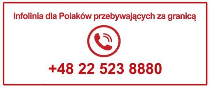 Infolinia dla Polaków przebywających za granicą.