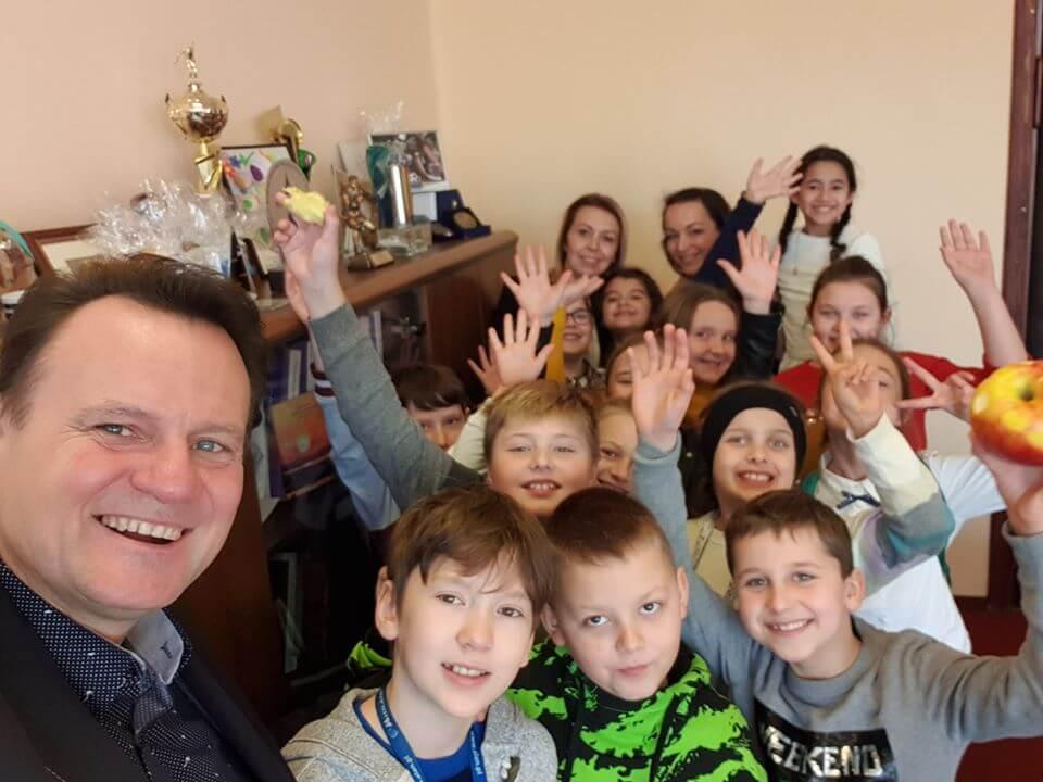 Świnoujście. W dniu dzisiejszym odwiedziła mnie radosne dzieci z klasy trzeciej SP 2.