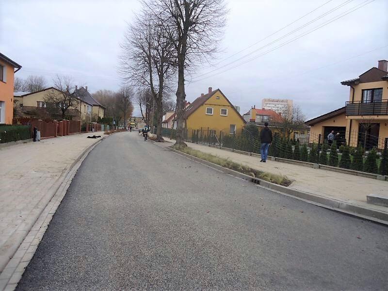 Świnoujście. Ulica Gdańska. Już tylko oznakowanie