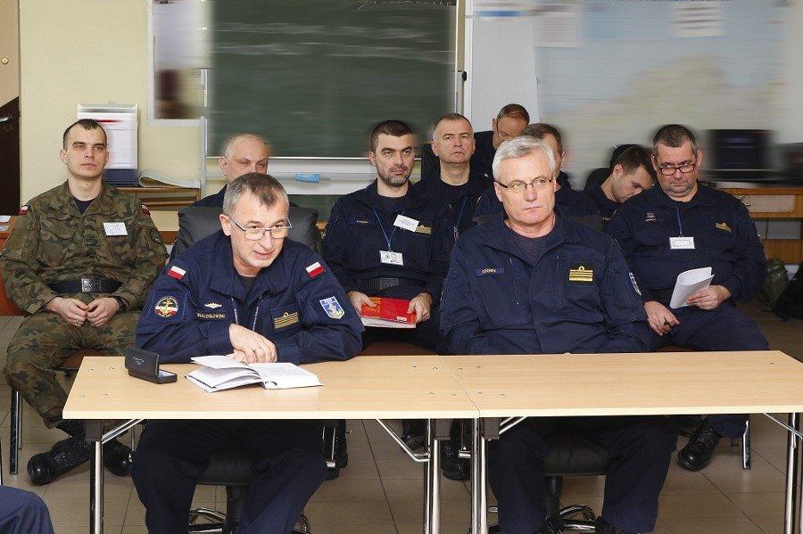 Trening sztabowy w 8. Flotylli Obrony Wybrzeża