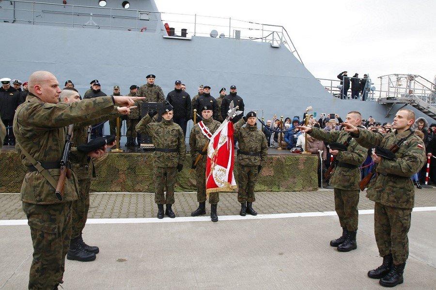Przysięga wojskowa w 8.Flotylli Obrony Wybrzeża
