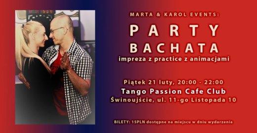 Świnoujście. Practice & Party Bachata w Kawiarni Tango Passion Cafe Club.