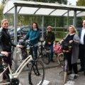 Świnoujście. Dziś miejscy urzędnicy przyjechali na rowerach.