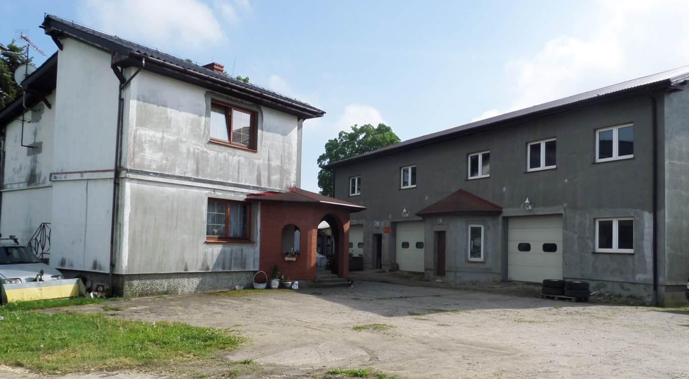 Dom i budynki magazynowo -warsztatowe z możliwościami inwestycyjnymi.