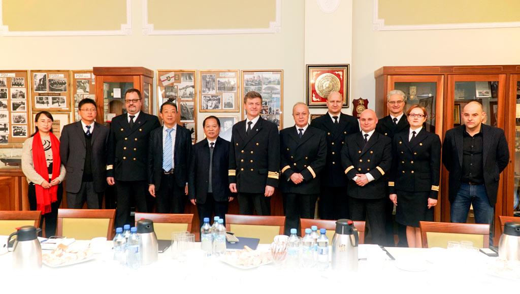 Zhejiang Ocean University z wizytą w Akademii Morskiej w Szczecinie
