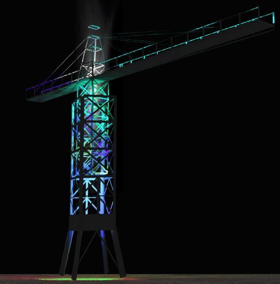 Znamy zwycięski projekt w konkursie na podświetlenie dźwigu