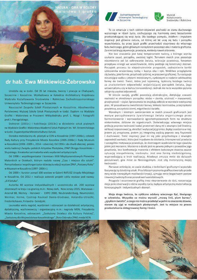 """Otwarcie galerii i wernisaż wystawy """"NATURA-GRA W KOLORY""""."""