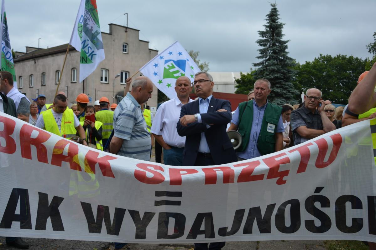 Pikieta pracowników Portu Gdańskiego Eksploatacja