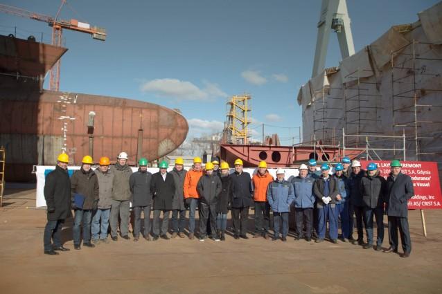 W stoczni CRIST położono stępkę pod budowa polarnego statku pasażerskiego