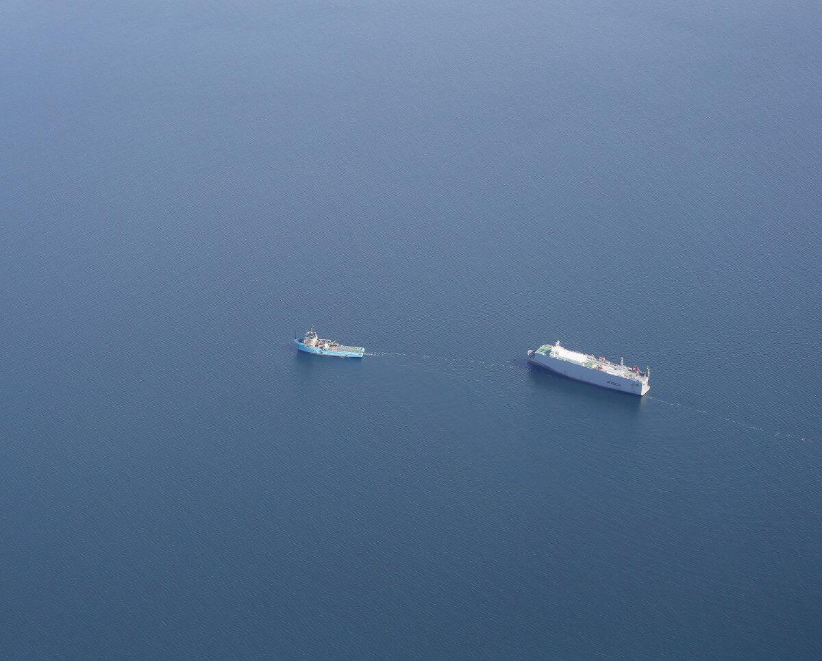 Samochodowiec, z którego pod koniec lipca do Bałtyku wyciekło ok. 14 tys. l ropy